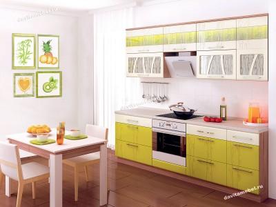 Кухня угловая 'Оранж глянец' г.Пушкин