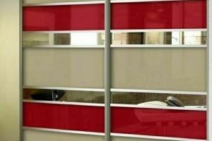 Двери-купе с зеркалом и пленкой ORACAL