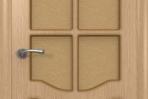 Дверь «Классика» светлый дуб со стеклом