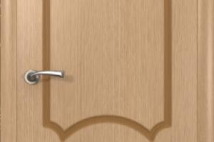 Дверь «Кристалл» светлый дуб полотно глухое