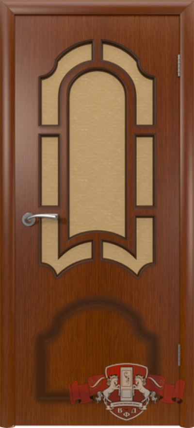 Дверь «Кристалл» макоре со стеклом