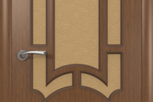 Дверь «Кристалл» орех со стеклом