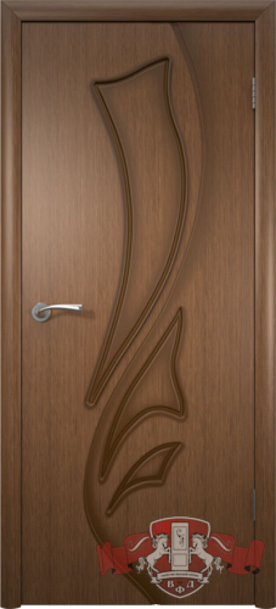 Дверь «Лилия» орех полотно глухое