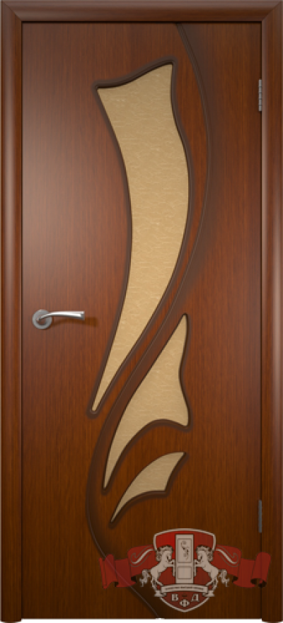 Дверь «Лилия» макоре со стеклом