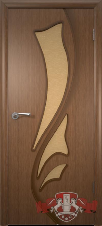 Дверь «Лилия» орех со стеклом