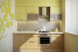 Кухня пластик - Фисташковый