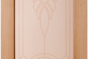 Дверь «Венеция» светлый дуб со стеклом