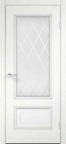 Дверное полотно IMPERIA 2V пломбир, со стеклом