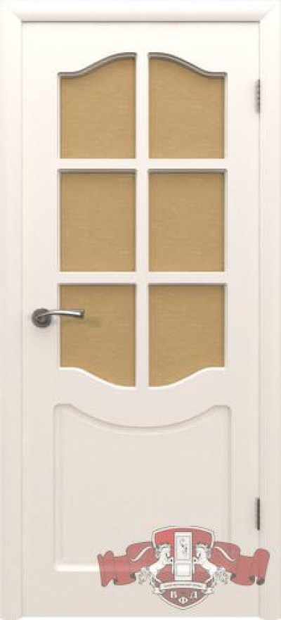 Дверь «Классика» белая эмаль со стеклом