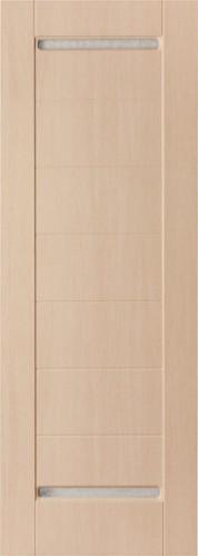 Дверь Sigma 12 беленый дуб со стеклом