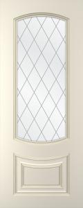 Дверное полотно Бергамо со стеклом