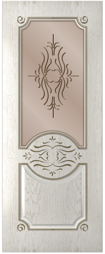 Дверное полотно Богема со стеклом