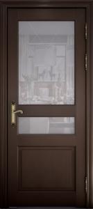 Дверь Азалия дуб французский со стеклом