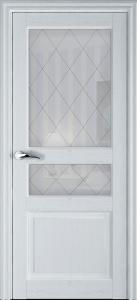 Дверь Азалия ясень перламутр со стеклом