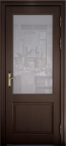 Дверь Персея дуб французский со стеклом