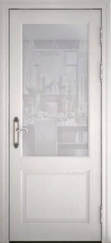 Дверь Персея ясень перламутр со стеклом