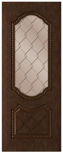 Дверное полотно Экстра со стеклом
