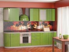 Кухня МДФ с гнутыми фасадами