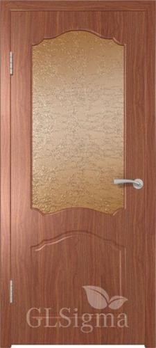 Дверь Sigma 32 итальянский орех со стеклом