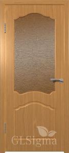 Дверь Sigma 32 миланский орех со стеклом