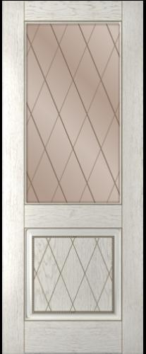 Дверное полотно Люкс со стеклом