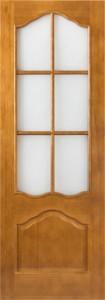 Дверь М11 орех со стеклом