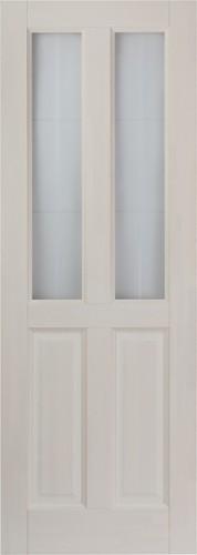 Дверь М1 белый воск со стеклом