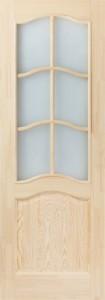 Дверь М7 сосна неокрашенная со стеклом