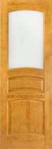 Дверь М9 (тон. лак 7%) со стеклом