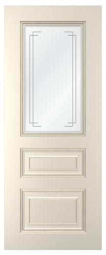 Дверное полотно Неаполь со стеклом