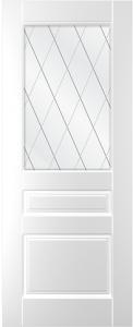 Дверное полотно Ника со стеклом