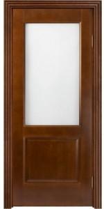 Дверь Ол/С-12 со стеклом (коньяк)